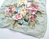 vintage echo club7 silk scarf floral shabby romantic