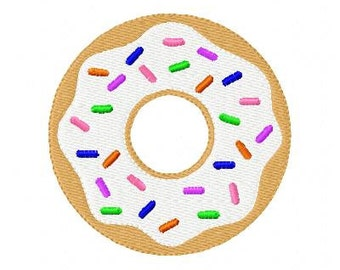 Doughnut 2 Machine Embroidery Design // Joyful Stitches