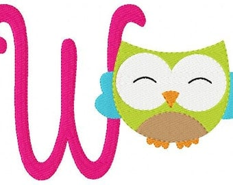 Owl // 5x7 // Machine Embroidery Monogram Font Design Set, Machine Embroidery Designs, Embroidery Font // Joyful Stitches