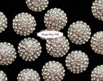 10pcs  Rhinestone Crystal Embellishments Flatback Buttons DIY Wedding Bridal Wedding Hair Clips Accessories RD71