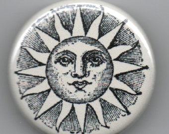 Classic Sun Image 1.25 inch Button