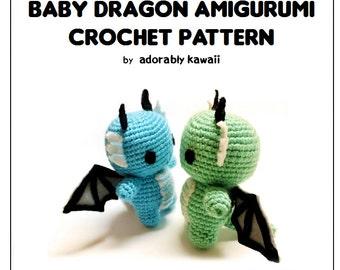 Baby Dragon Amigurumi Pattern, Crochet Dragon Pattern, Cute Dragon Toy Pattern, Amigurumi Crochet Pattern, Baby Dragon Plush, Cute Pattern