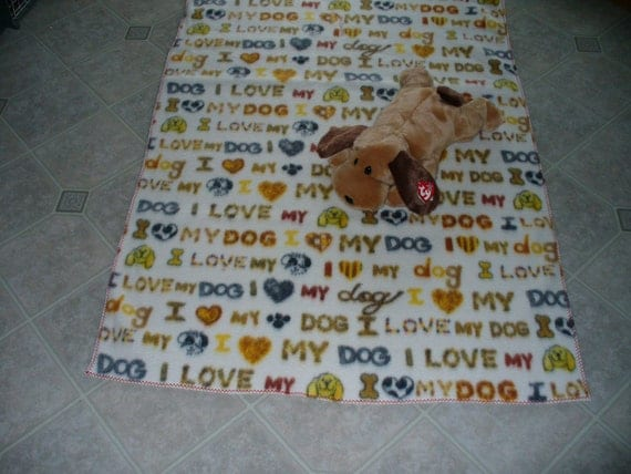 """Dog Blanket, large, for your """"one and only"""""""
