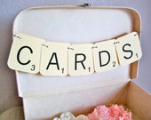 CARDS Wedding Garland, Sign,  Decoration, Banner - Scrabble