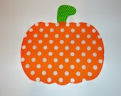 Iron On Applique PUMPKIN Halloween Fall Or Harvest