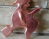 Vintage Copper Cookie Cutter Witch Adorable