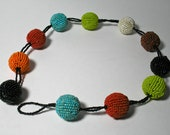 Large Gum Ball Size Beaded Bead Necklace