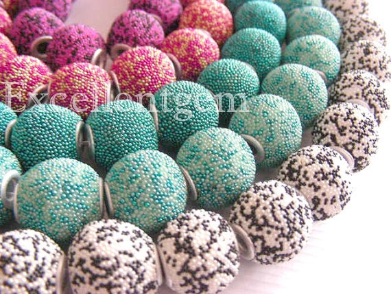 10pcs Fashion Large hole Clay beads in summer color-- 16mm