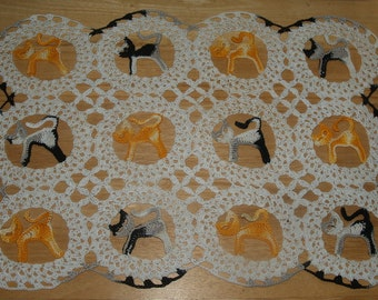 Crochet Kitty Cats- Cat Doily Pattern