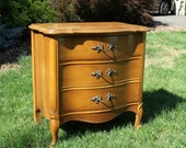 3 Drawer French Provincial Night Stand / Small Dresser / End Table - Custom Choose Your Color and Finish