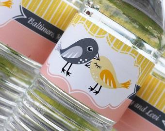 Nuzzling Birds Water Bottle Label