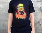 Frankenstein Monster T-shirt, Men's American Apparel Black Tee