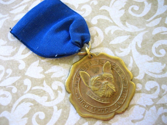 1925 Sports Medal with BULLDOG for Repurpose