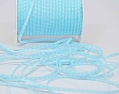 Solid Stitched Center Ribbon -- 1/8 inch -- Soft Sky Blue Baby Boy Blue Light Blue