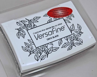 VersaFine Stamp Pad -- Onyx Black -- No Refill Needed Long Lasting Captures fine details like no other