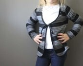 SALE textured layers Grey Cardi 12m 2t  4T 5T  6t ready to ship cardigan sweater gray