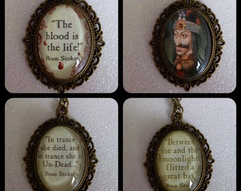 Dracula Cameo Necklaces