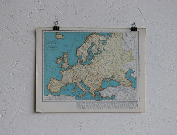 RESERVED-Vintage Map-Europe-Early 20th Century