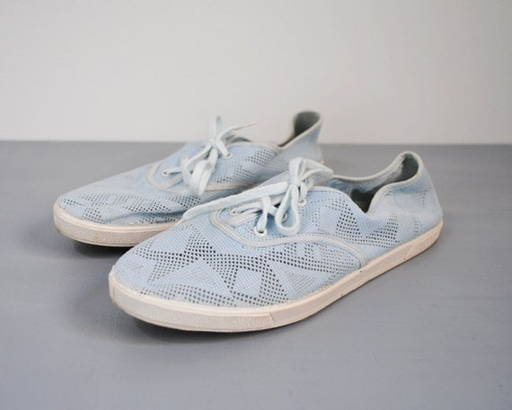 80 s blue flats 1980 s sneakers 6 tennis by stickylipgloss