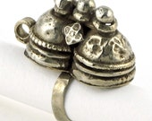 Antique Indian Old Coin Silver Toe Ring, Rajasthan, Northern  India, 13.1 Grams