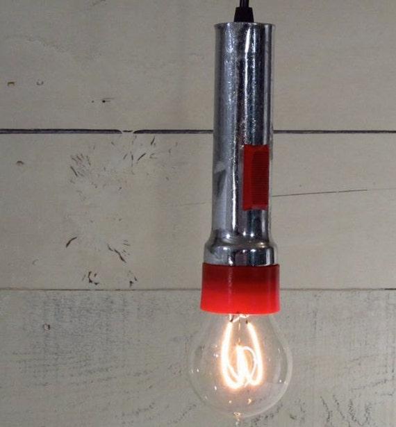 Retro Industrial Flashlight Pendant Light Fixture