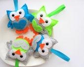 4 Felt Christmas Ornaments, 4 Owl Christmas ornaments