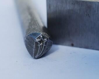 Shooting Star- Design Stamp Metal Stamp LARGE-3/8 in.-Metal Stamping Tool-Perfect for Metal Stamping and Metal Work
