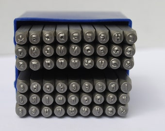 "Metal Stamp Set-Metal Stamping Kit in ""Aras/ Kristin"" Font-Alphabet Set COMBO-Uppercase/Lowercase -2mm-by Metal Supply Chick"
