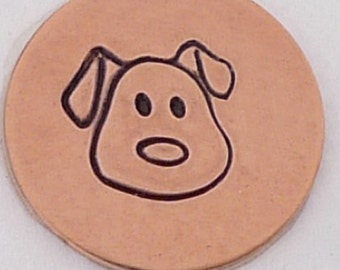 Dog Face Metal Design Stamp-Measures approx 5 mm-Metal Design Stamp-Metal Stamping Supplies for Personalized Jewelry