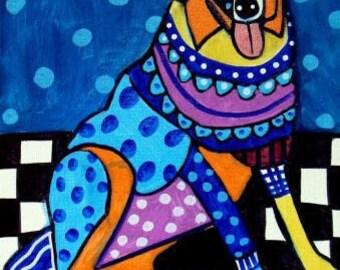 60% Off- Australian Shepherd Art - art dog  Art Print Poster by Heather Galler (HG145)