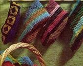 Crochet Slippers Vintage Pattern PDF 258 from WonkyZebra