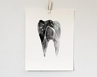 Big Sky Tooth, 8x10 print