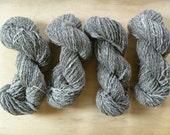 Grey merino/alpaca/angora handspun