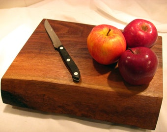 Live Edge Black Walnut Serving Plate