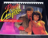 Vintage 1980s Rene And Angela Street Called Desire Record Album Recycled / Upcycled LP Cover Blank Comb-Bound Journal