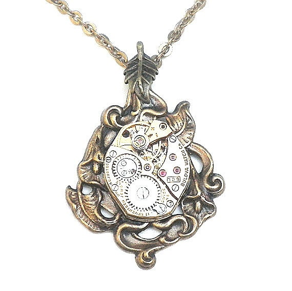 PS,Neo Victorian Steampunk Necklace