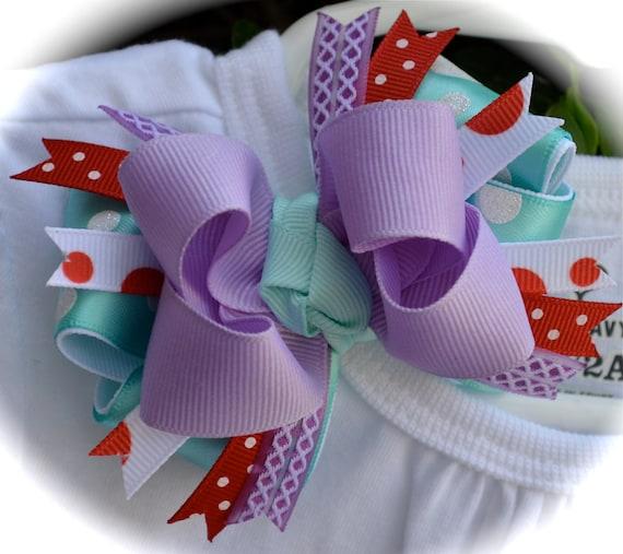 Custom Boutique Girls Disney Vacation Birthday ARIEL Little Mermaid m2m Princess Hair Bow Clip