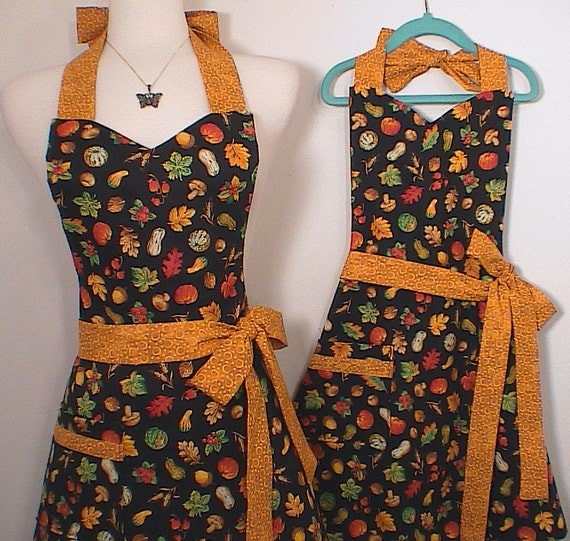 Thanksgiving Apron Mommy and Me Set Fall Harvest