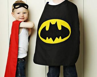 Batman cape, superhero cape, cape, birthday gift for kids, Batman, superhero cape with mask, superhero capes for kids