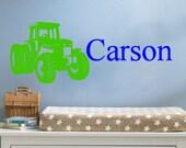 Custom Tractor Name Vinyl