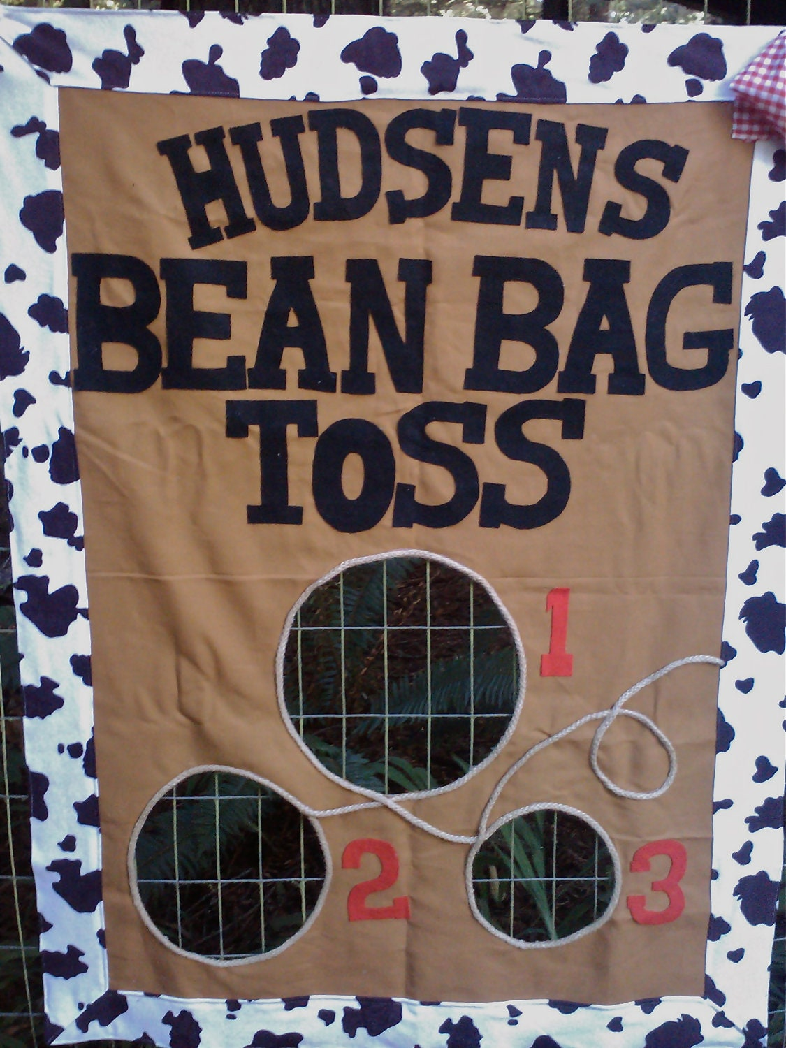 Bean Bag Toss Party Game Western Cowboy Style With Bean Bags