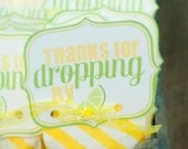 Pucker Up Lemon Bridal Shower PRINTABLE Favor Tag by Love The Day