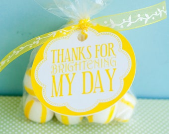 Yellow Sunshine Birthday PRINTABLE Party Favors (INSTANT DOWNLOAD) from Love The Day