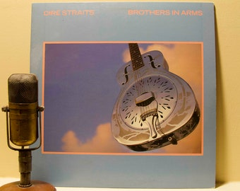 """ON SALE Dire Straits, Record Album 1980s Pop Rock Vinyl LP, Dire Straits - """"Brothers in Arms""""(Original 1985 Wb Records w/""""Money for Nothing"""""""