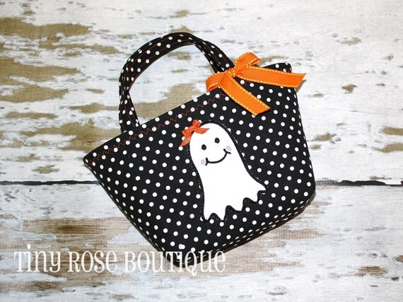 Dottie the Ghost - Baby's First Trick or Treat Tote - Can Be Personalized