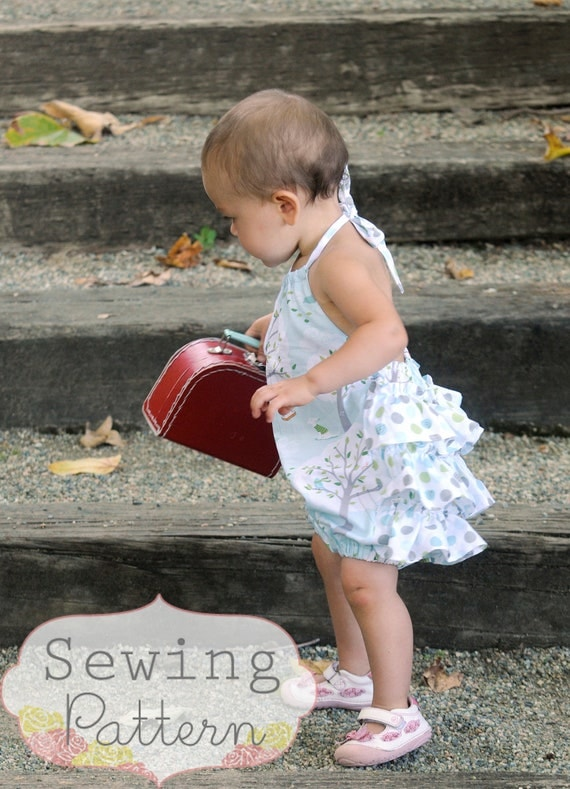 Rosy Romper (Size 3/6 months to Size 3T) PDF Sewing Pattern and Tutorial