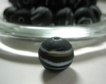CLOSEOUT -  - Black/White/silver  Acrylic  Beads Spacers  -(14 mm) -  - 140 pieces - AS IS