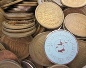 Tokens, Vintage token pieces lot (50) circus, carnival, fair, chuckie chees, pistol petes, arcade, games, arcade game machines, tokens