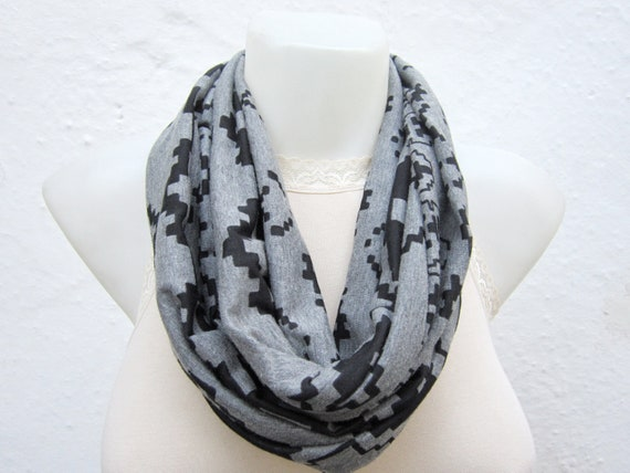 Infinity scarf Loop scarf Neckwarmer Necklace scarf  combed fabric  scarf