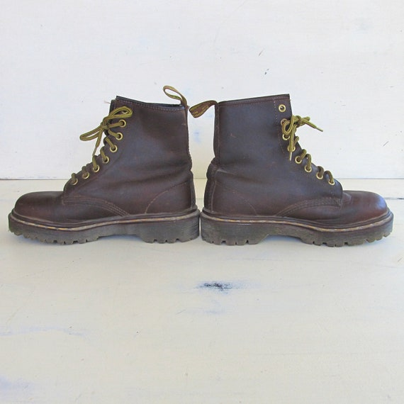 brown doc marten 8 boots size 4 us womens size 6
